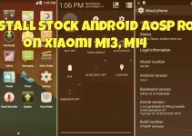 Install Stock Android AOSP ROM on Xiaomi Mi3, Mi4