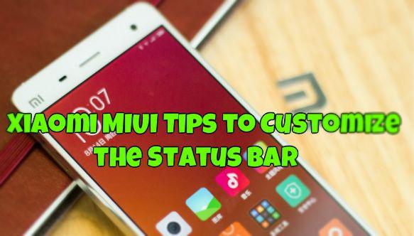 Xiaomi MIUI Tips to Customize the Status Bar