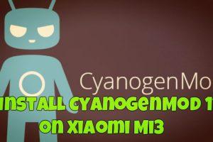 Install CyanogenMod 11 on Xiaomi Mi3