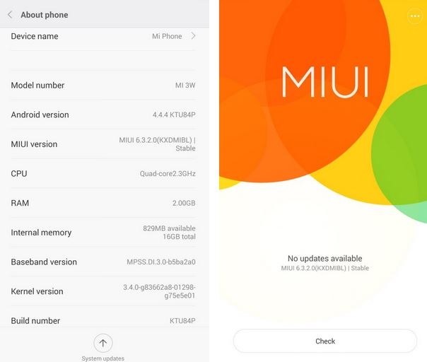 Xiaomi MI3 MIUI 6 Update