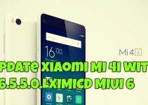 Update Xiaomi Mi 4i with V6.5.5.0.LXIMICD