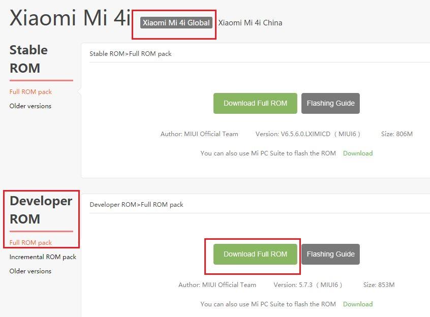 Mi4i-Developer-ROM