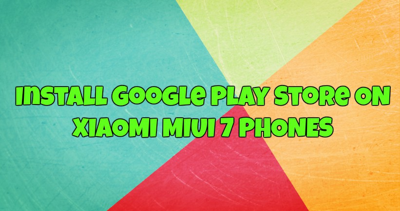 Install Google Play Store Xiaomi