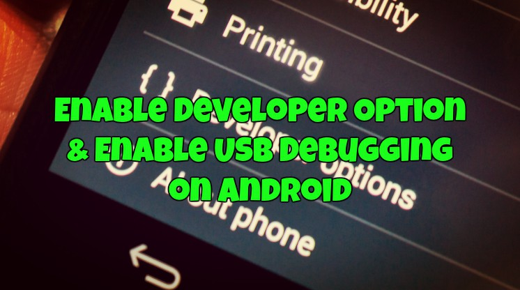Enable Developer Option & Enable USB Debugging on Android