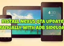 Install Nexus OTA Update Manually With ADB Sideload