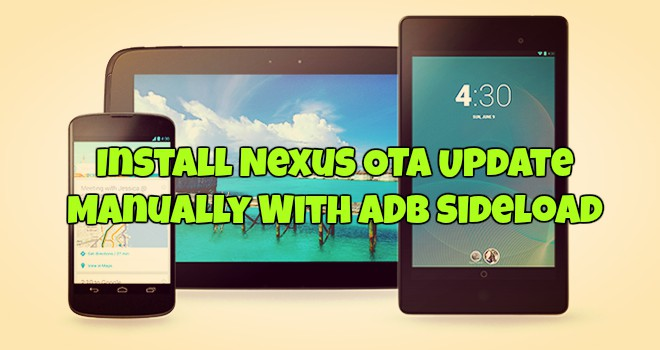 Install Nexus OTA Update