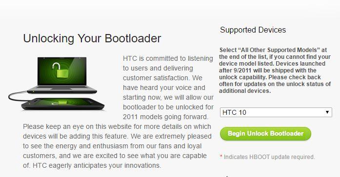 HTC 10 Unlock Bootloader