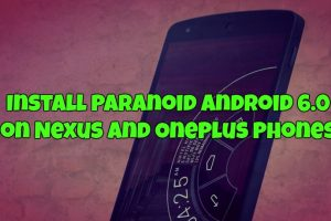 Install Paranoid Android 6.0