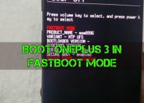 Oneplus 3 fastboot mode