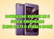 Download Xiaomi Mi 6 Stock Firmware [MIUI 8.2.17.0 Stable Rom]