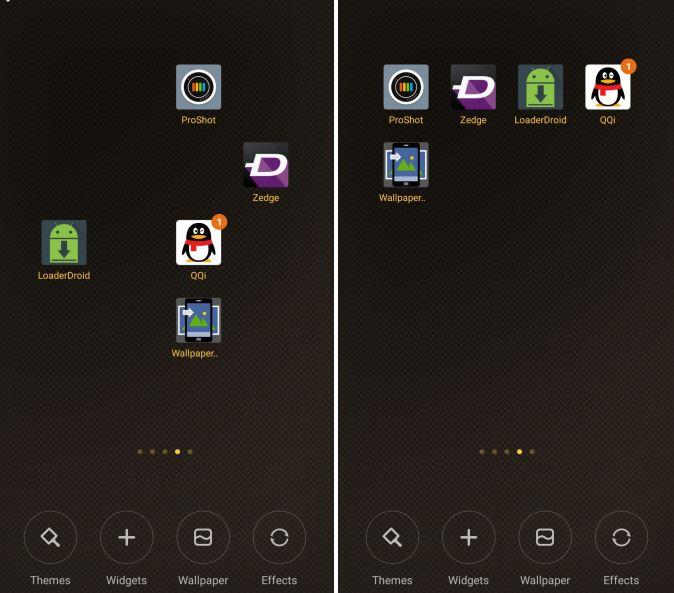 Shake to Arrange Icons
