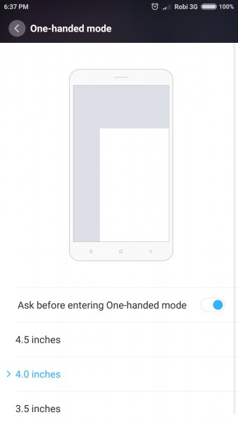 Use your phone with one hand