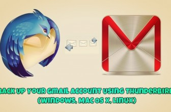 Back Up Your Gmail Account Using Thunderbird (Windows, Mac OS X, Linux)