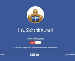 Get Facebook Notification on Desktop without Opening Facebook
