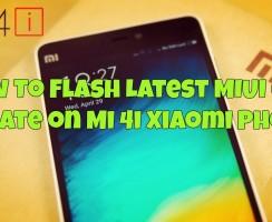 How To Flash Latest MIUI 6 Update on Mi 4i Xiaomi Phone