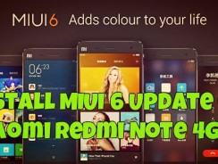 Install MIUI 6 Update on Xiaomi Redmi Note 4G