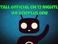 Update OnePlus one with Official CM 12 Nightlies Android 5.0