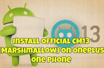Install Official CM13 (Marshmallow) on OnePlus one Phone