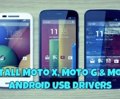 How to Install Moto X, Moto G & Moto E USB Drivers (Windows & MAC)