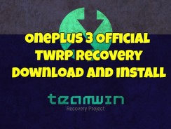 OnePlus 3 Official TWRP Recovery – Download and Install