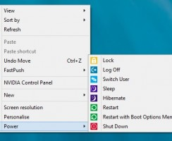 Add Power Menus and Extra Tools on Windows 8 Context Menu