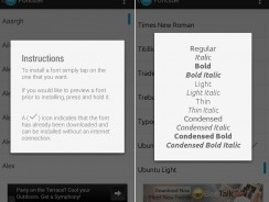 Change Android System Fonts Easily With Fontster App [Root]