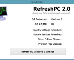 Reset Your Windows PC's To It's Default State With RefreshPC App