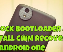 Unlock Bootloader & Install CWM Recovery on Android One [Guide]