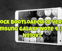 Unlock Bootloader of Verizon Samsung Galaxy Note 4 [SM-N910V]