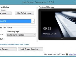 Change Windows 8 LockScreen Automatically with Lock Screen Customizer
