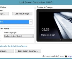 Change Windows 8 LockScreen Automatically with Lock Screen Customizer