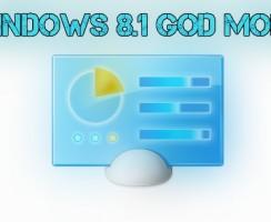 Access Windows 8.1 Hidden Features With God Mode