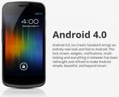 Galaxy Nexus with Android 4.0 Ice Cream Sandwich