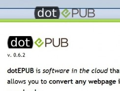 Convert Webpages into Ebook (EPub) with Dotepub
