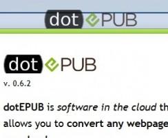 Convert Webpages into Ebook (EPub) with Dotepub
