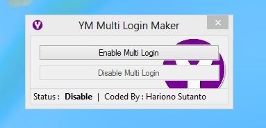 Enable Multi Yahoo Messenger Login