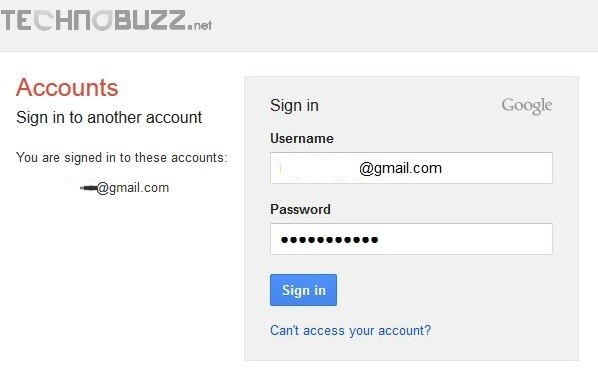 Login Gmail Account