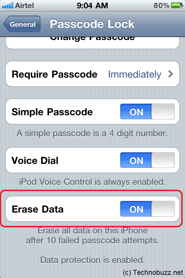 how to clear data on iphone auto erase your iphone data after 10 failed passcode attempts 18666