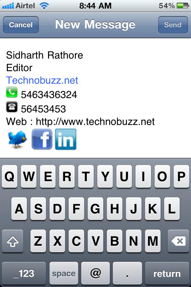 iphone html signature, iphone email signature ,email,iphone,signature