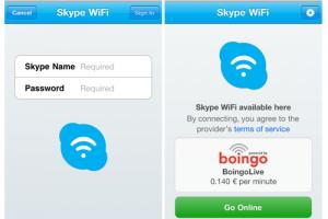 Skype-WiFi-App