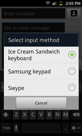 install ice cream sandwich keyboard on your android phone. Black Bedroom Furniture Sets. Home Design Ideas