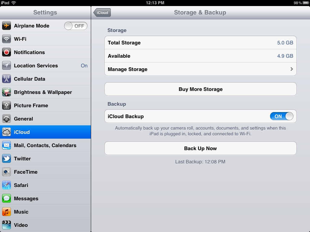 How to Backup Your Old iPad