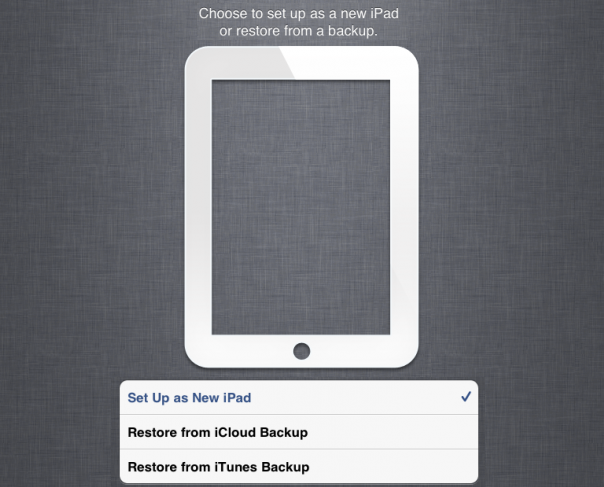 How to Restore Data to the New iPad