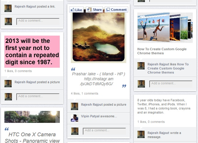 Facebook Wall Like Pinterest