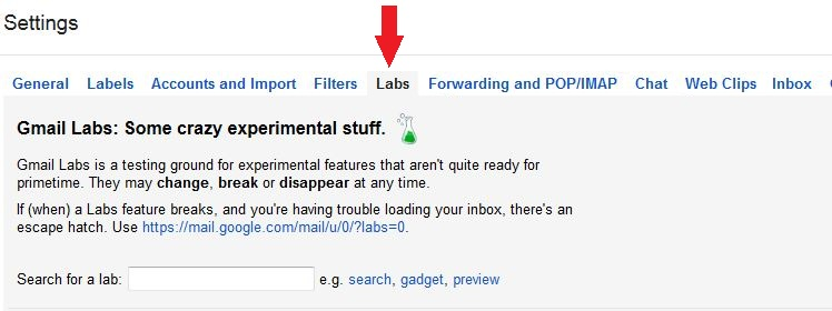 Gmail Labs Addons