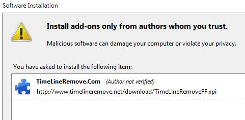 Install Timeline Remove Addon