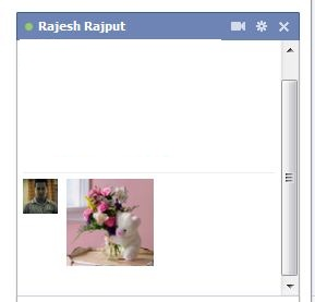 facebook chat with image