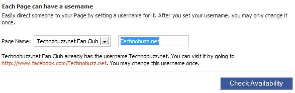 Change Facebook Page Vanity URL