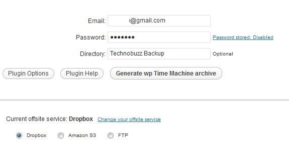 Dropbox Account details