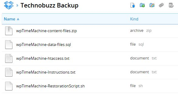 Wordpress Backup Files on Dropbox
